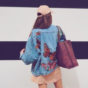 LF Stores Embroidered Jean Jacket